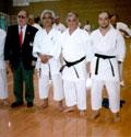 2006 - Stage FEKDA a Igea Marina. Da sinistra: M° Peter Brockers (Presidente I.K.F. International Karate Federation), M° Toiozo Fujioka, M° Luigi Sabbatini, M° Raffaele Sabbatini