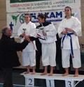 Cad. Facchini Laura 1° class. (campionessa regionale 2008 – FIJLKAM) - Jun. Benvenuti Giorgia 2° class. - Cad. Tosi Mara 3° class.