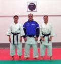 2007 - Staff Tecnico Shotokan Karate Club Cattolica. Da sinistra: M° Cinzia Il Grande, M° Luigi Sabbatini, M° Francoise Balducci