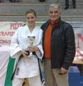 Modena (Carpi) - Qualificazione per i Campionati Italiani - Abel Serena - Kata: 2° classificata e il Maestro Luigi Sabattini