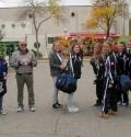 Arrivo al Palazzetto dello Sport di Castelbolognese