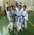 Foto di gruppo delle ragazzine