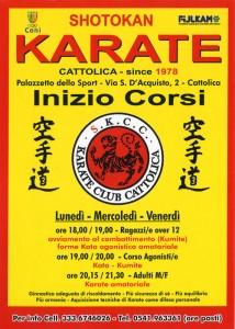 Inizio Corsi di Karate – Settembre 2014 - Corsi di Karate per adulti - manifesto