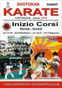 Inizio Corsi di Karate – Settembre 2014 -  Corsi di Karate per bambini - manifesto