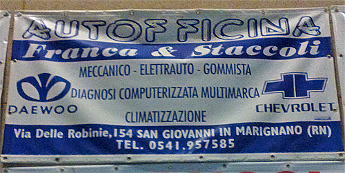 Sponsor Autofficina Franca & Staccoli - San Giovanni in Marignano